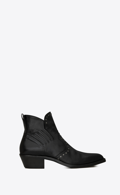 Dakota Chelsea boot in kangaroo-look leather with studs