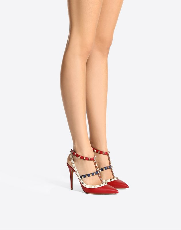 Multicolor Rockstud Caged Pump 100mm