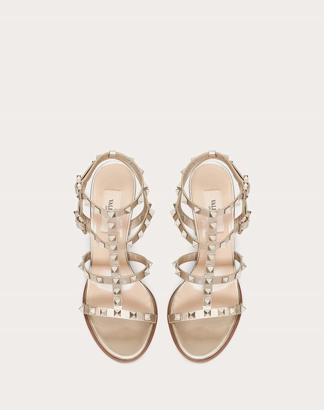 Rockstud Metallic Ankle Strap Sandal 90 mm