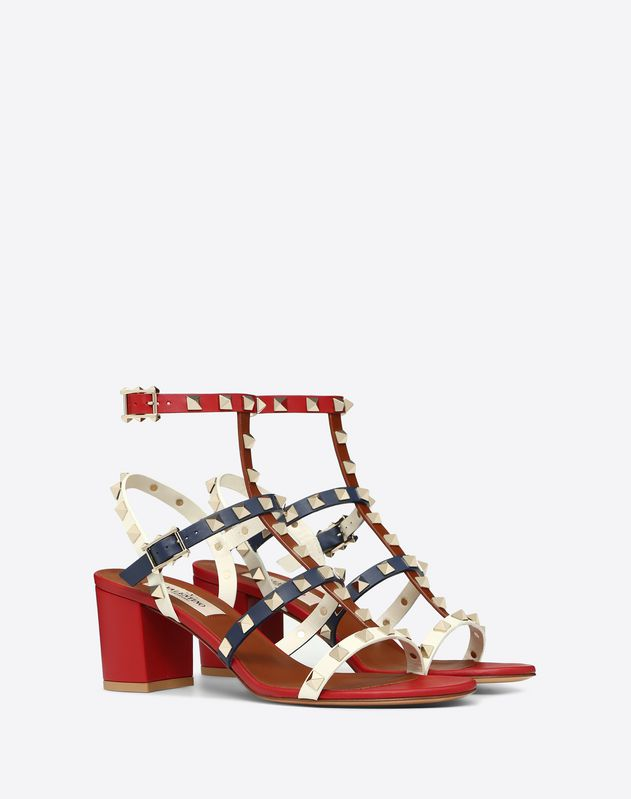 Multicolor Rockstud caged Sandal 60mm