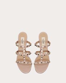 Rockstud Calfskin Leather Slide Sandal 60 mm