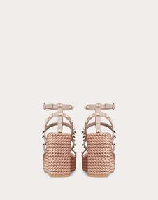 Rockstud 袢带 95 mm 坡跟凉鞋