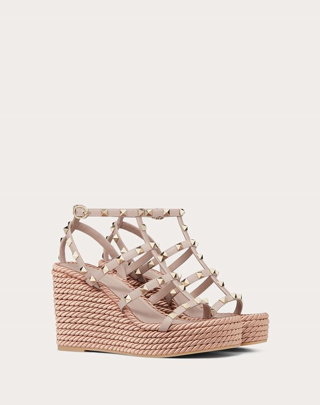 Rockstud caged Wedge Sandal 95mm