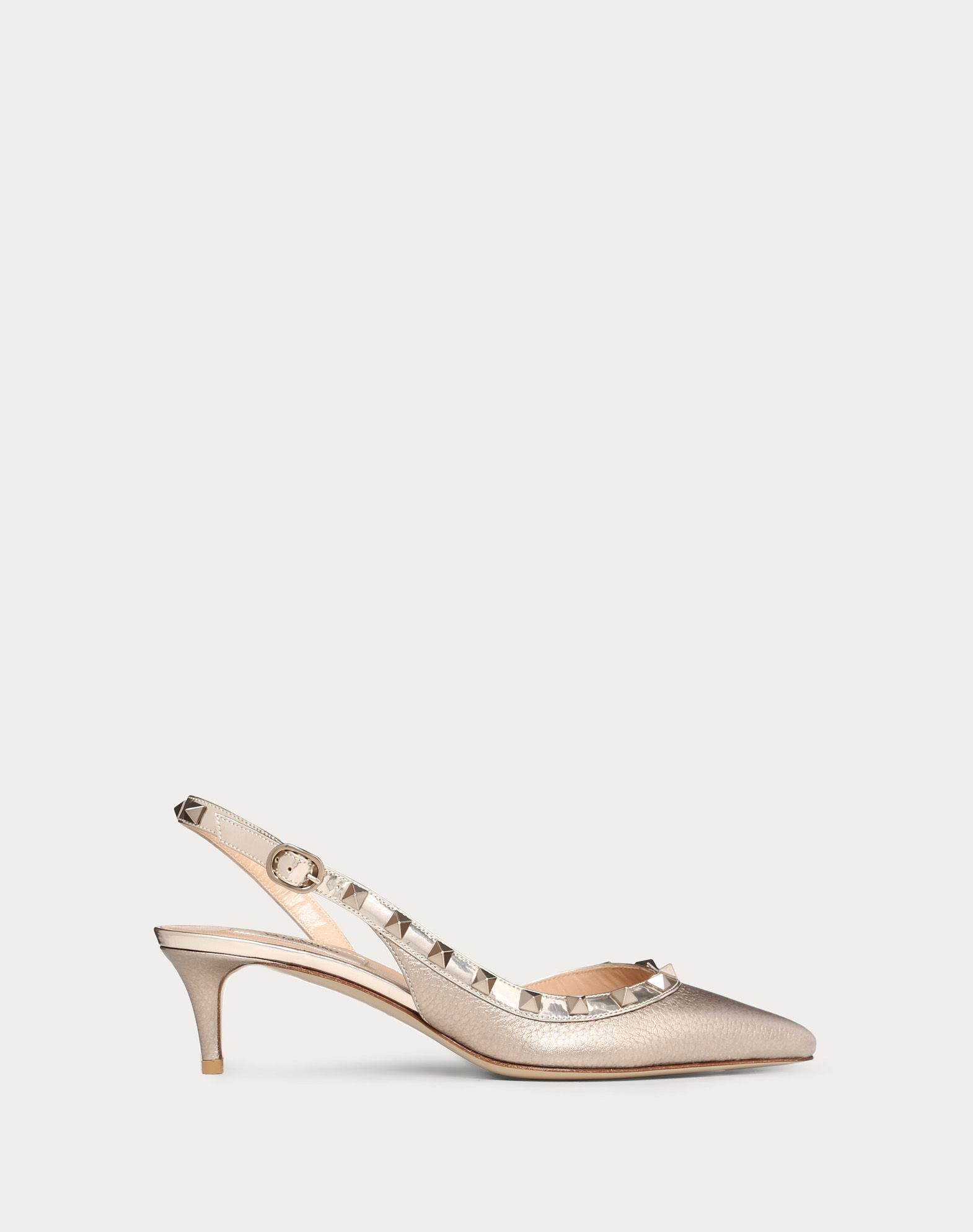 Metallic Rockstud Slingback Pump 50mm