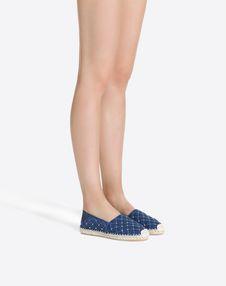 牛仔 Rockstud Spike 麻底鞋