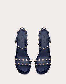 铆钉装饰 115mm 坡跟凉鞋