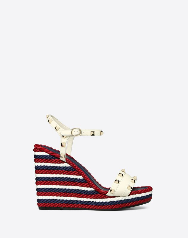 Multicolor Wedge sandal with studs 115mm