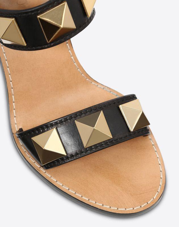 Cowhide Rockstud sandal 100mm