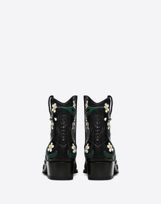 Flowers Embroidery Texan Bootie 40mm