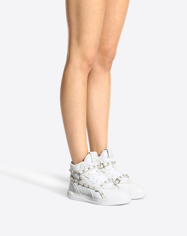 High-Top Rockstud Sneaker