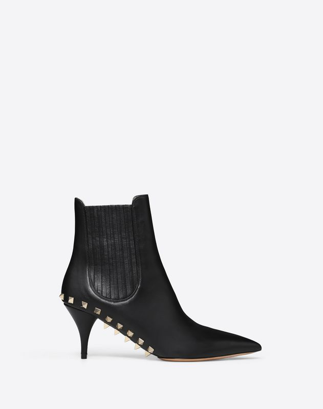 Ankle boot with studded sole