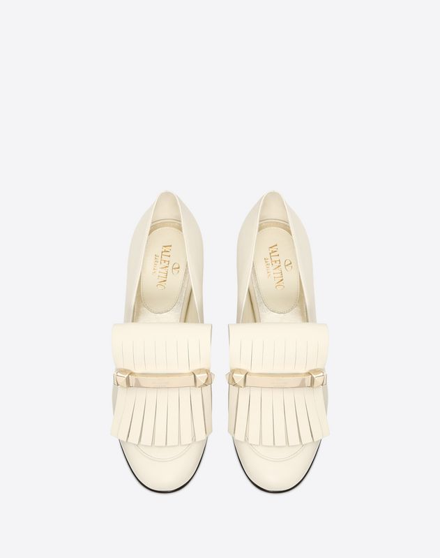 Fringe flat loafer