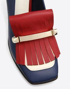 Fringe multicolor loafer 90mm