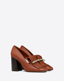 Fringe loafer 90mm