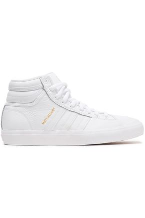 ADIDAS Matchcourt textured-leather high-top sneakers