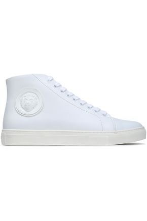 VERSUS VERSACE Embellished leather sneakers