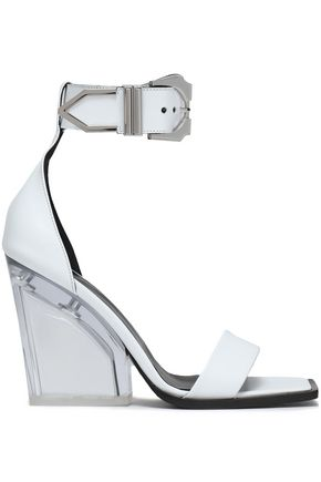 VERSUS VERSACE Leather and Perspex sandals