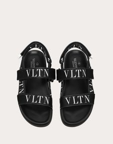 CALFSKIN SANDAL WITH VLTN BAND