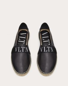 NAPPA LEATHER ESPADRILLE WITH VLTN BAND