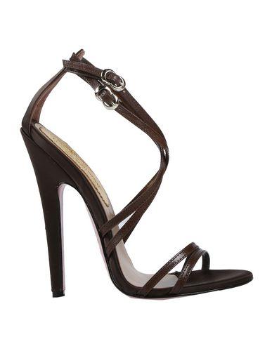 Купить Женские сандали  темно-коричневого цвета