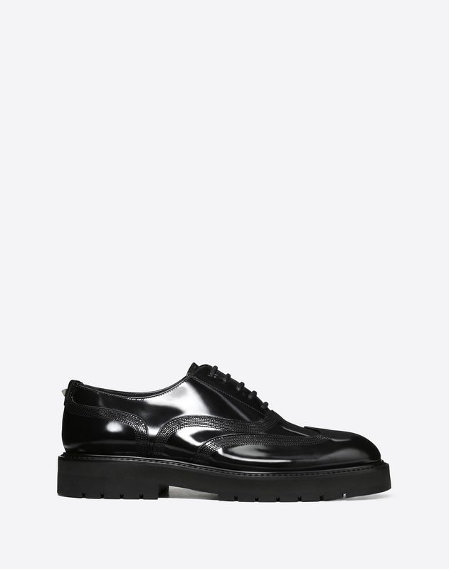 GLOSS BRUSH-OFF CALFSKIN OXFORD