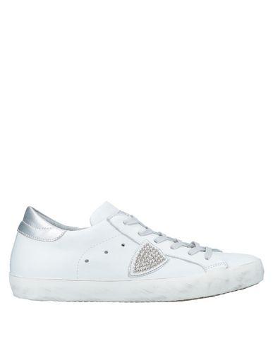 Купить Низкие кеды и кроссовки от PHILIPPE MODEL белого цвета