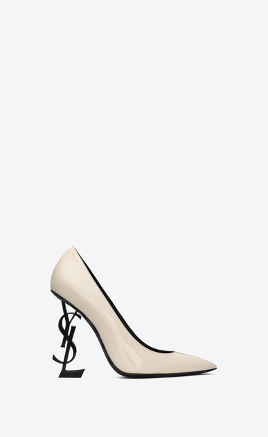 OPYUM Pumps with black heel in patent leather