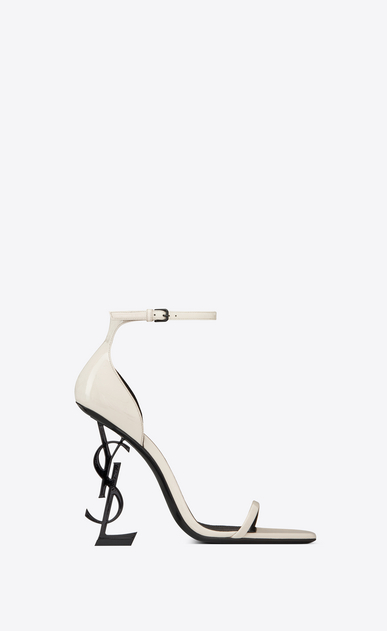 OPYUM Sandals in patent leather with a black heel