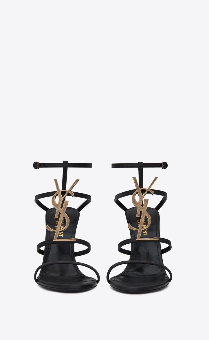 180135d65 Saint Laurent 110Mm Cassandra Logo Leather Sandals In Black