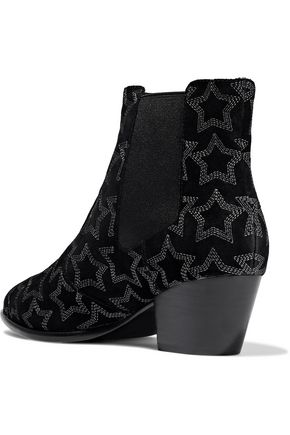 ASH Hope embroidered suede ankle boots