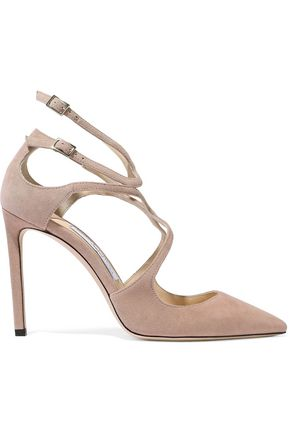 JIMMY CHOO Lancer 100 suede pumps