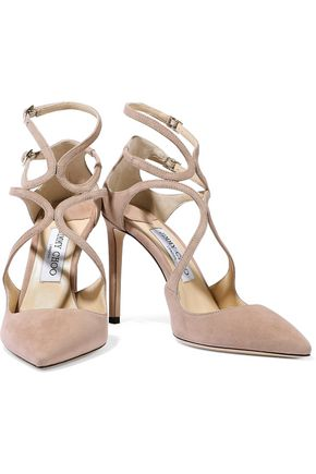 e14faaf76461 JIMMY CHOO Lancer 100 suede pumps