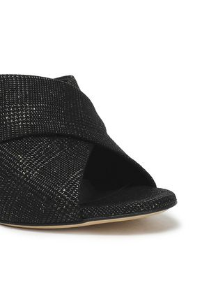 GIUSEPPE ZANOTTI Metallic woven sandals