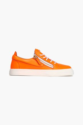 GIUSEPPE ZANOTTI Neon leather sneakers