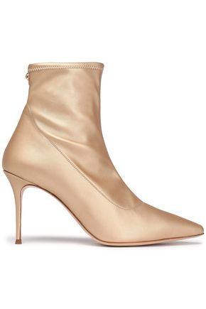 GIUSEPPE ZANOTTI Metallic stretch-leather sock boots