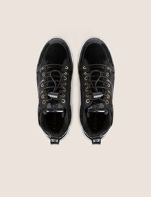 ARMANI EXCHANGE VELVET AND PATENT FINISH HIGH-TOP SNEAKER Sneaker Woman e