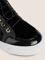 ARMANI EXCHANGE VELVET AND PATENT FINISH HIGH-TOP SNEAKER Sneaker Woman a