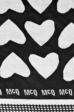 McQ Alexander McQueen Printed modal scarf