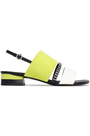 3.1 PHILLIP LIM Studded color-block leather and suede sandals