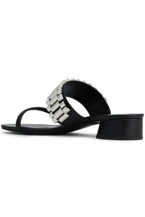 3.1 PHILLIP LIM Drum embellished leather mules