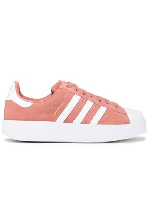 ADIDAS ORIGINALS Superstar Bold rubber and suede sneakers
