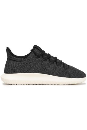 ADIDAS ORIGINALS Tubular Shadow leather-trimmed stretch-knit sneakers