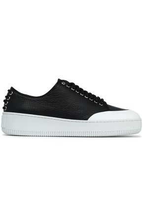 McQ Alexander McQueen Netil textured-leather platform sneakers