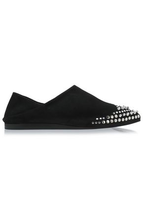 McQ Alexander McQueen Studded suede point-toe flats