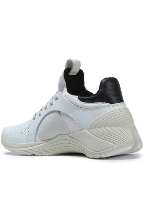 McQ Alexander McQueen Perforated leather and mesh sneakers