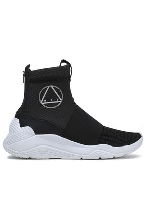 McQ Alexander McQueen Hikaru neoprene and mesh high-top sneakers
