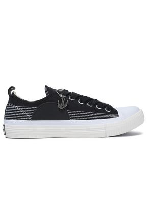 McQ Alexander McQueen Leather-appliquéd canvas sneakers