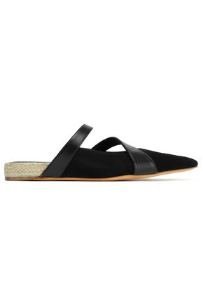 J.W.ANDERSON Suede and leather slippers