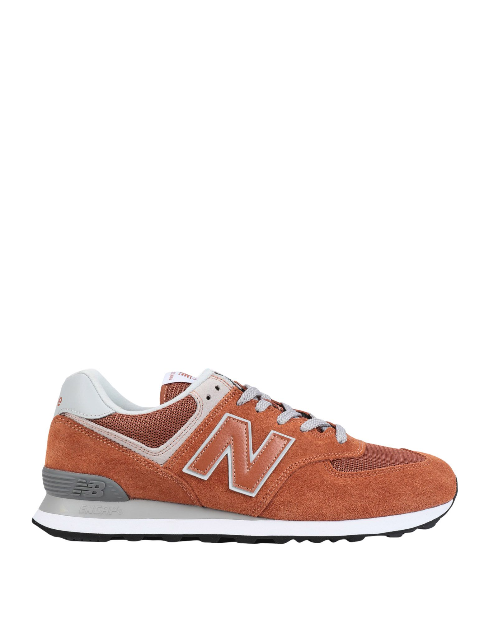 《セール開催中》NEW BALANCE メンズ スニーカー&テニスシューズ(ローカット) 赤茶色 7.5 革 / 紡績繊維 ML574 Seasonal Suede Mesh