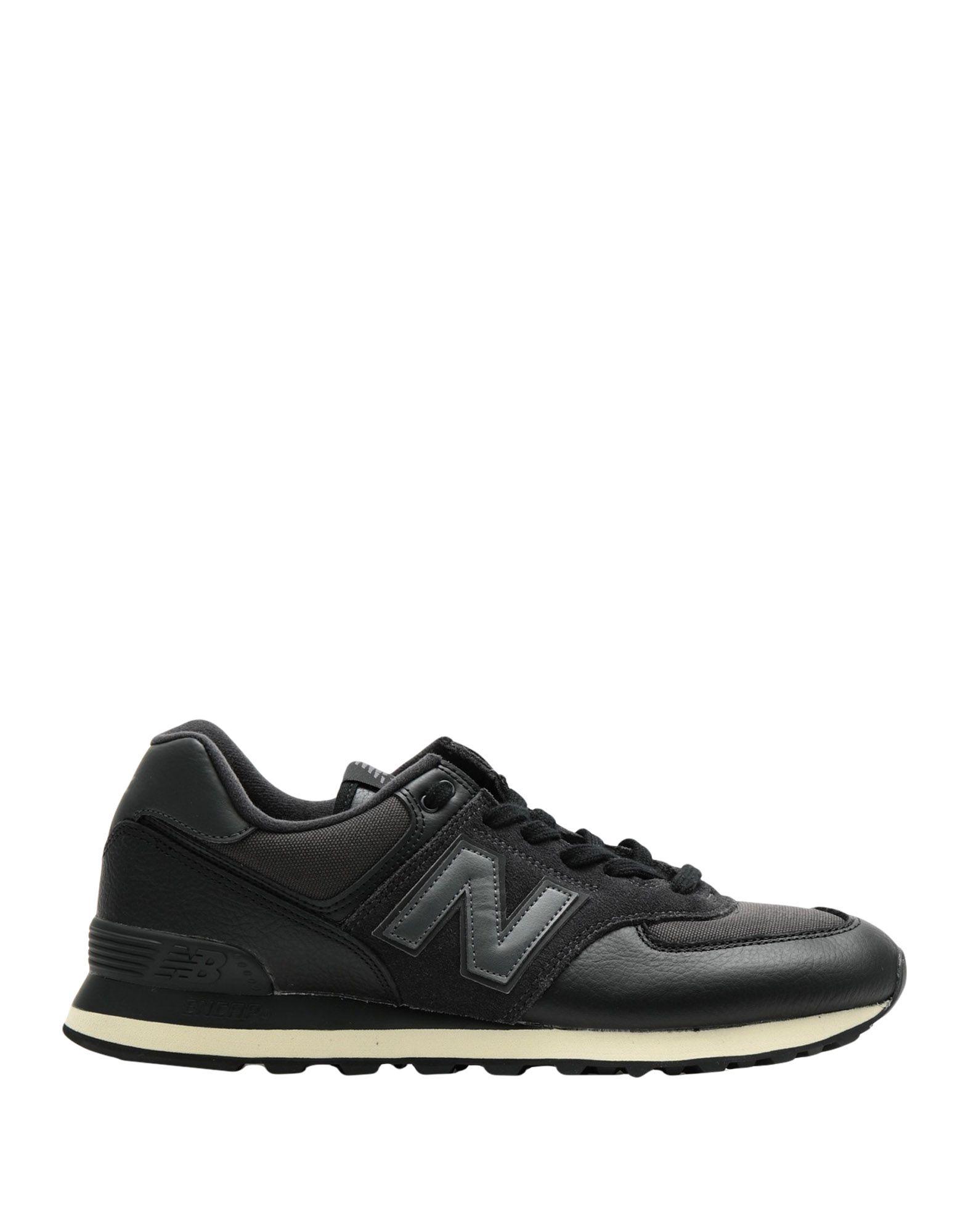 《セール開催中》NEW BALANCE メンズ スニーカー&テニスシューズ(ローカット) ブラック 8 革 / 紡績繊維 ML574 Outdoor Leather Cordura